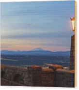 Rocky Butte Viewpoint At Sunset Wood Print