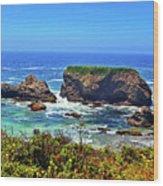 Rocky California Coast 006 Wood Print