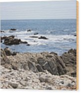 Rocky California Coastline Wood Print
