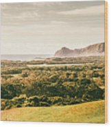 Rocky Capes And Rugged Coasts Wood Print