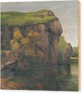 Rocky Cliffs Wood Print