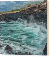 Rocky Coast Wood Print