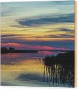 Rocky Creek Sunset Wood Print