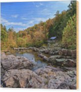 Rocky Falls Near Klepzig Mill Wood Print
