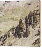 Rocky Landscape - 3 - French Alps Wood Print
