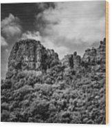 Rocky Landscape Wood Print