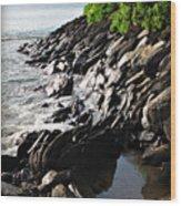 Rocky Maui Coast Wood Print