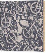 Rocky Mountain Bike Trail Wood Print