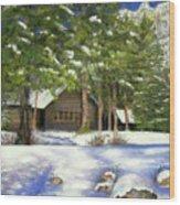 Rocky Mountain Blues Wood Print