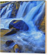 Rocky Mountain Cascade Wood Print