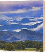 Rocky Mountain Cloud Layers Wood Print