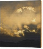 Rocky Mountain Continental Divide Sunset Wood Print