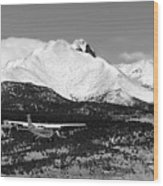 Rocky Mountain Flying  Wood Print