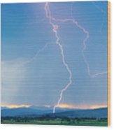 Rocky Mountain Front Range Foothills Lightning Strikes 1 Wood Print