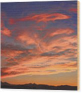 Rocky Mountain Front Range Sunset Wood Print