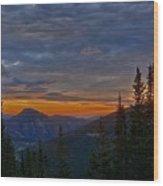 Rocky Mountain High Sunrise Wood Print