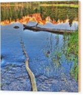 Rocky Mountain Lake Wood Print