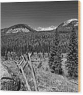 Rocky Mountain National Park Black And White Wood Print