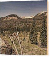 Rocky Mountain National Park Vintage Wood Print