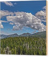 Rocky Mountain Overlook Wood Print
