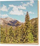 Rocky Mountain Panorama Wood Print