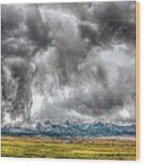 Rocky Mountain Panorama Hdr Wood Print