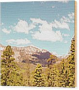 Rocky Mountain Panorama Too Wood Print