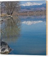 Rocky Mountain Reflections Wood Print