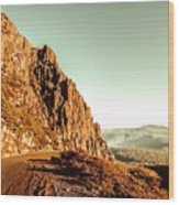 Rocky Mountain Route Wood Print