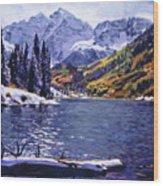Rocky Mountain Serenity Wood Print by David Lloyd Glover