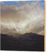 Rocky Mountain Sky Wood Print