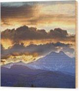 Rocky Mountain Springtime Sunset 3 Wood Print