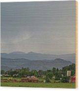 Rocky Mountain Storming Panorama Wood Print