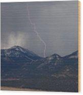 Rocky Mountain Strike  Wood Print