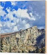 Rocky Mountain Summit Wood Print