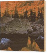 Rocky Mountain Sunrise Wood Print