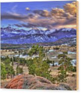 Rocky Mountain Sunset Wood Print