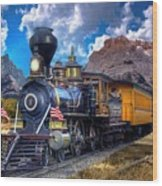 Rocky Mountain Train Wood Print