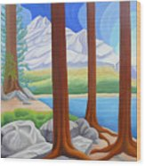 Rocky Mountain View 1 Wood Print