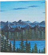 Rocky Mountain View Wood Print