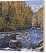 Rocky Mountain Water 8 X 10 Wood Print