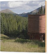 Rocky Mountain Water Tower Wood Print