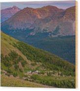 Rocky Mountain Wilderness Wood Print