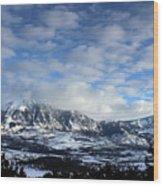 Rocky Mountains Wood Print