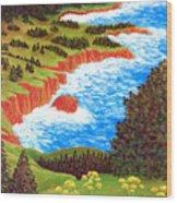 Rocky Oregon Coast Wood Print
