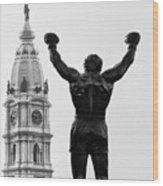 Rocky - Philly's Champ Wood Print