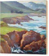 Rocky Point Afternoon Big Sur Wood Print