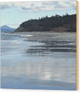 Rocky Point  Beach Wa Wood Print