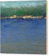 Rocky Point Dream At Bass Lake Wood Print