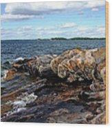 Rocky Point - Wreck Island Wood Print